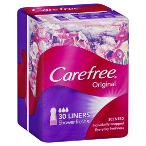 Carefree Panty Liners Shower Fresh Liners