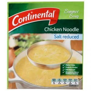 Continental Simmer Soup Salt Reduced Chicken Noodle