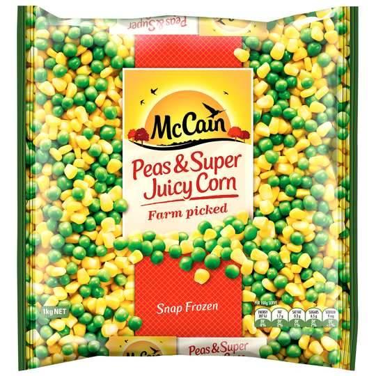 Mccain Mixed Vegetables Peas & Super Sweet Corn