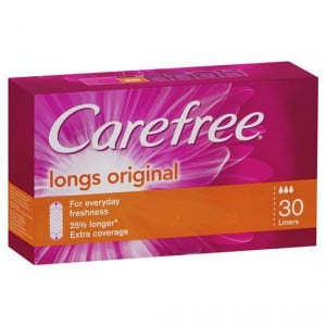 Carefree Panty Liners Long