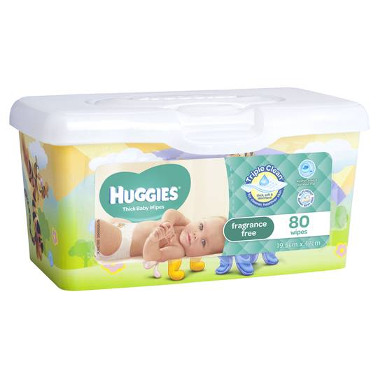 Huggies Thick & Soft Baby Wipes Tub Fragrance Free