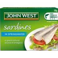 John West Sardines In Spring Water