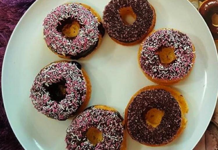 Basic iced cake donuts