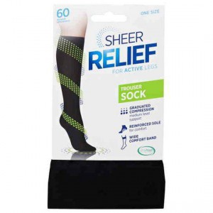 Sheer Relief Trouser Sock Black 1 Size