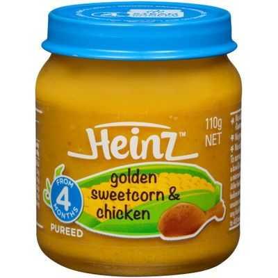 Heinz Strained Food 4 Months Golden Sweetcorn & Chicken