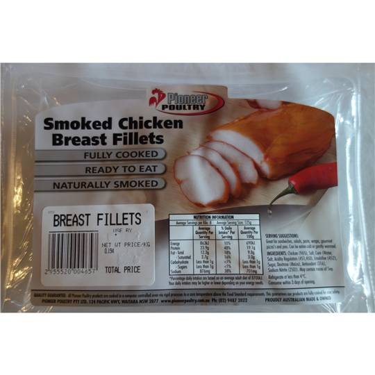 Pioneer Poultry Chicken Breast Fillet Smoked