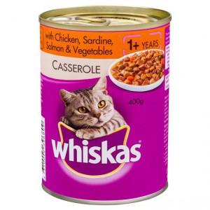Whiskas Adult Cat Food Salmon Chicken & Vegetables