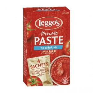 Leggos Tomato Paste No Added Salt Sachets