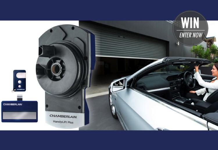 WIN a Chamberlain HandyLift Plus DIY garage door opener !
