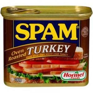 Spam Turkey Oven Roasted