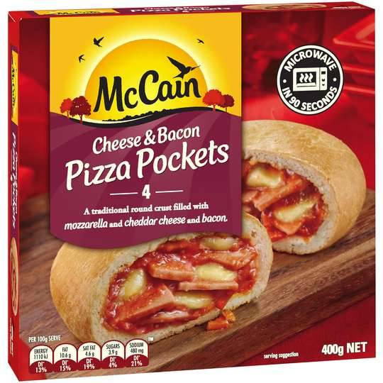 Mccain Pizza Pocket Cheese & Bacon