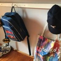 How to make a school bag rack