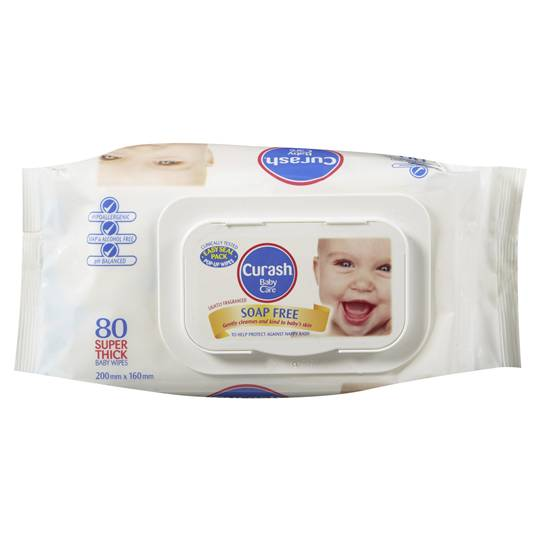 Curash Wipes Soap Free Super Thick