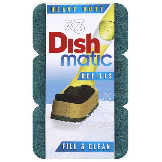 Dishmatic Heavy Duty Sponge Refill