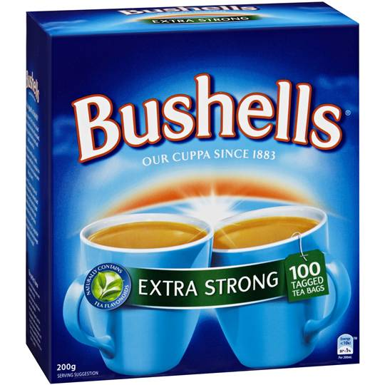 Bushells Tea Bags Extra Strong
