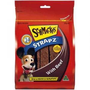 Schmackos Treat Beef Strapz