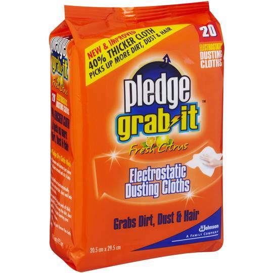 Pledge Grab It Kitchen Cleaner Wipes Citrus Refill