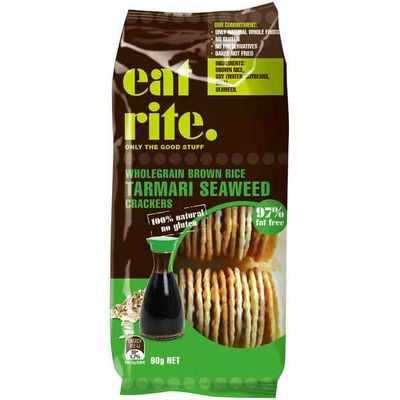 Eatrite Rice Crackers Tamari Seaweed