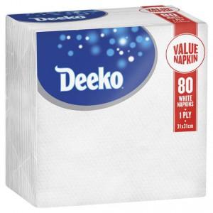 Deeko Serviettes Hypo White Everyday