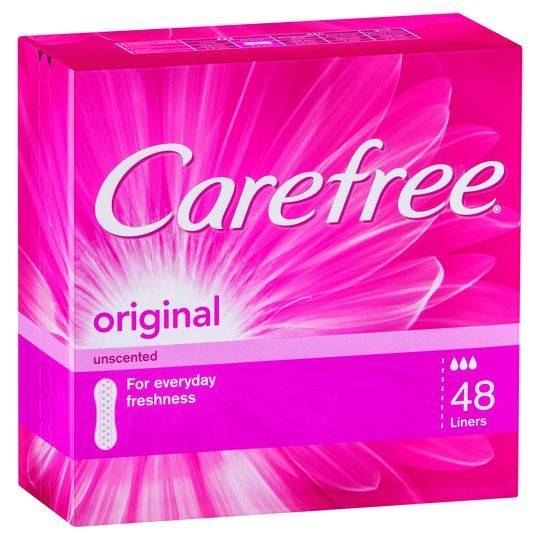 Carefree Flat Panty Liners Regular