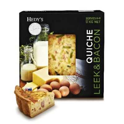 Hedy's Quiche Leek & Bacon