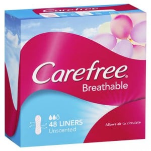 Carefree Panty Liners Breathable