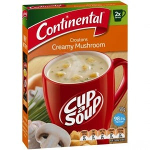 Continental Cup A Soup Croutons Creamy Mushroom