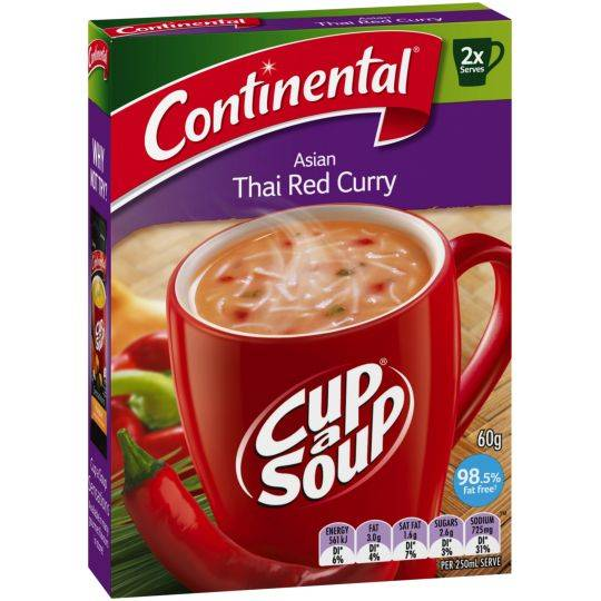 Continental Cup A Soup Asian Thai Red Curry