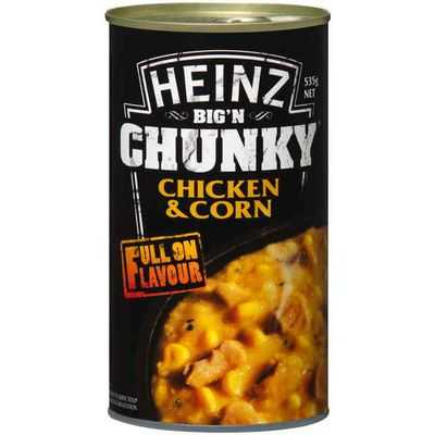 Heinz Big N Chunky Canned Soup Chicken & Corn
