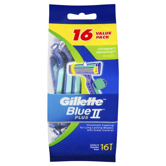 Gillette Blue Ii Ultragrip Pivot Disposable Razor