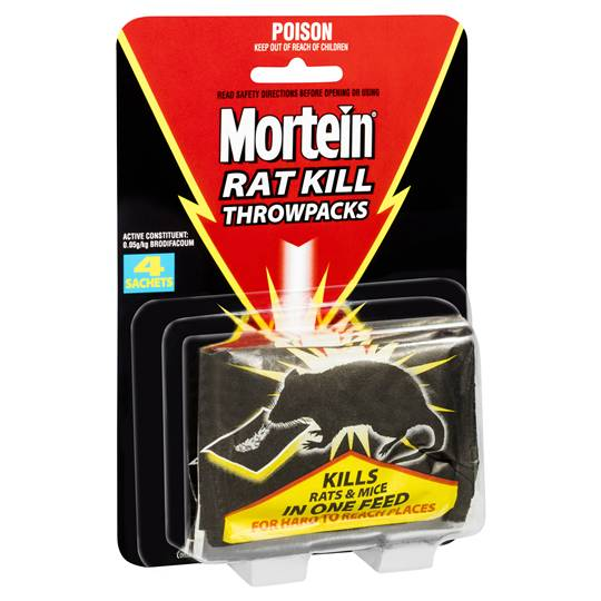 Mortein Baits Rat Kill Throwpacks