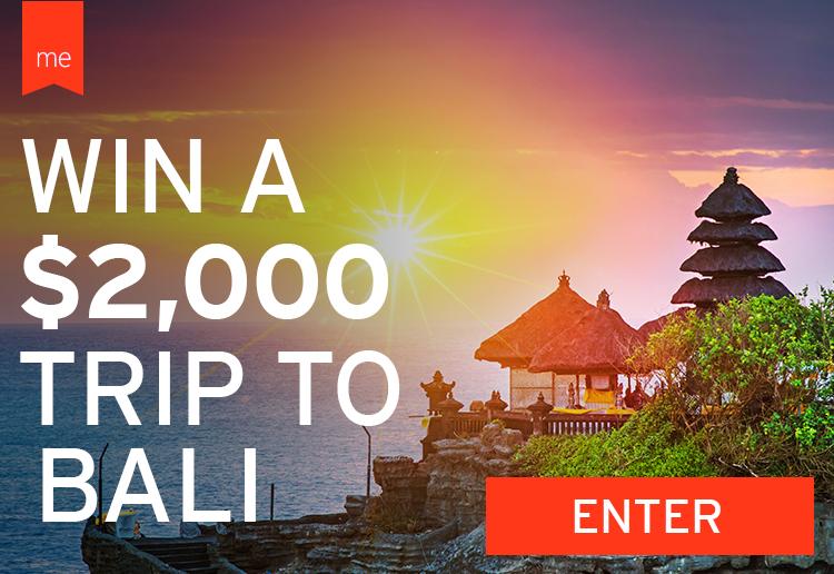 WIN a trip to Bali worth $2000!