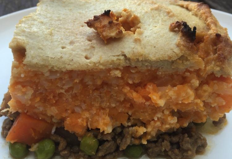Cashew cheese shepherd's pie