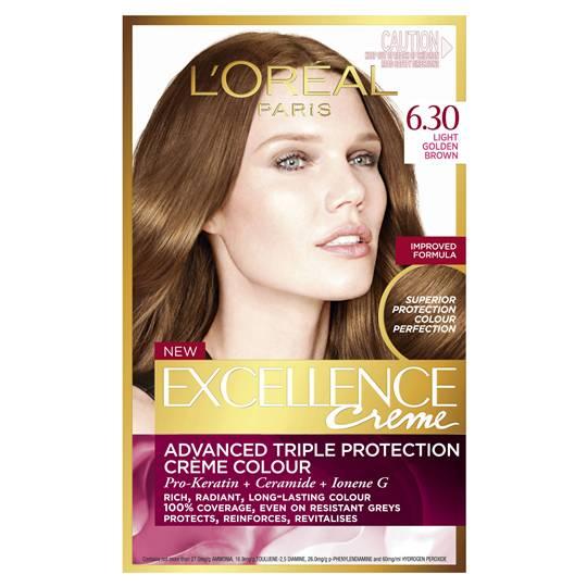 L'oreal Excellence Crème 6.3 Light Golden Brown