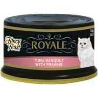 Fancy Feast Royale Adult Cat Food Tuna Whole Prawn