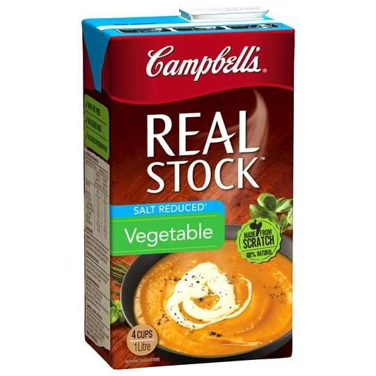 Campbells Real Vegetable Liquid Stock Salt Reduced