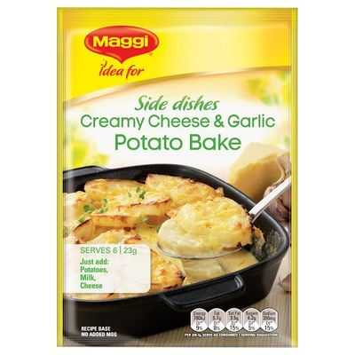 Maggi Creamy Cheese & Garlic Potato Bake Recipe Base