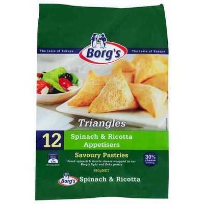 Borg's Pastizzis Triangles Spinach & Ricotta