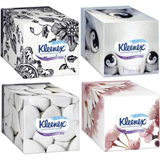 Kleenex Facial Tissues White Hypo Allergenic Cube