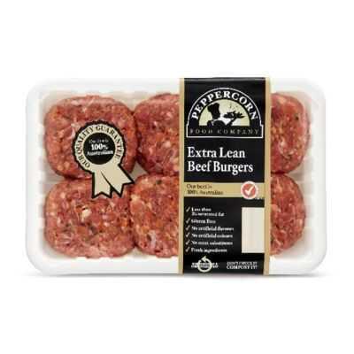 Peppercorn Beef Burger Extra Lean