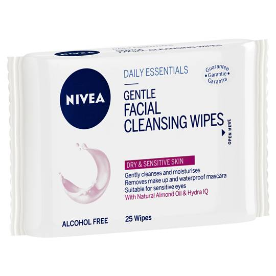 Nivea Daily Essentials Facial Wipes Dry & Sensitive Skin