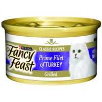 Fancy Feast Adult Cat Food Grilled Turkey Prime Fillet