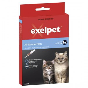 Exelpet Treatment Allwormer Paste Cat Syringe