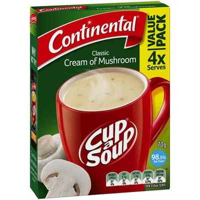 Continental Cup A Soup Cream Of Mushroom