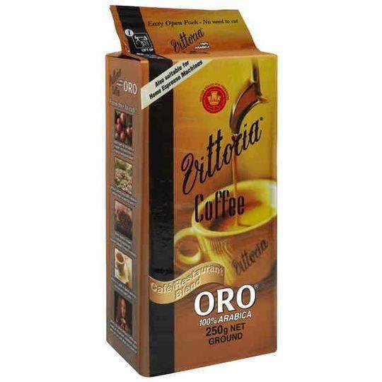 Vittoria Oro Gold Cafe Series Ground Coffee