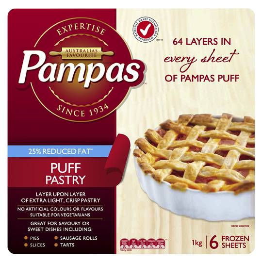 Pampas Puff Pastry Reduced Fat