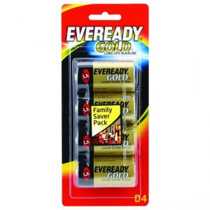 Eveready Gold Type D Batteries