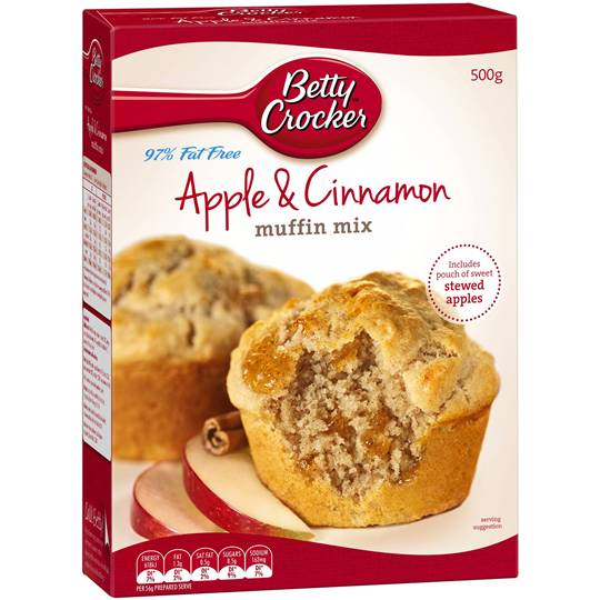 Betty Crocker Muffin Mix Apple Cinnamon 97% Fat Free