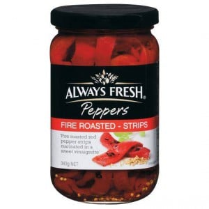 Always Fresh Capsicum Fire Roasted Pepper Strips