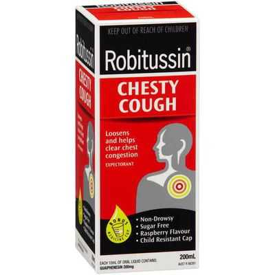 Robitussin Cough Syrups Chesty Cough